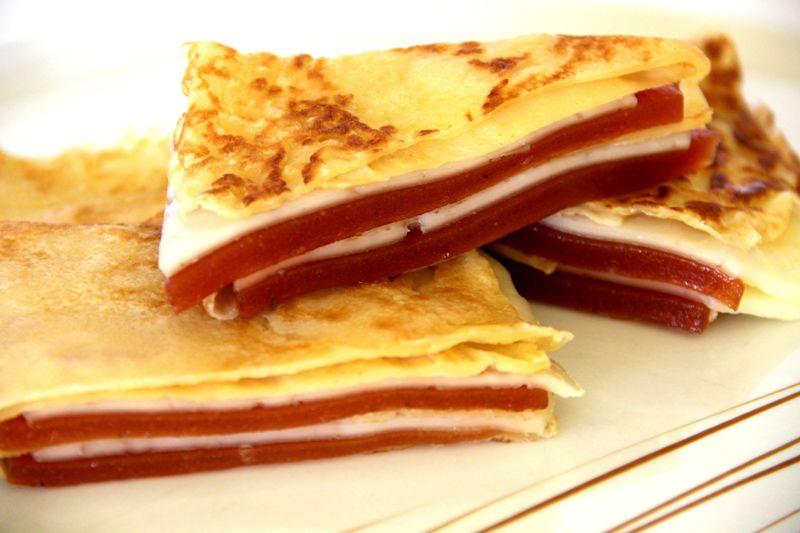 Crepe rellena de queso y membrillo (3) - copia