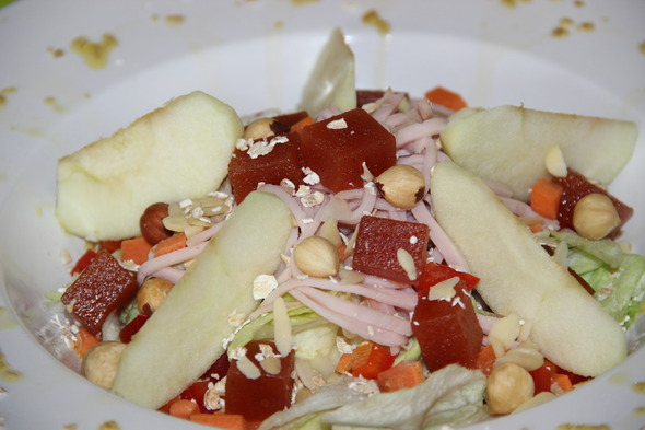 Receta de ensalada con membrillo Valliser