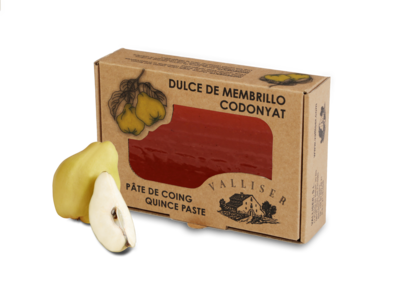 Productos artesanos de Valliser. Membrillo 100% natural