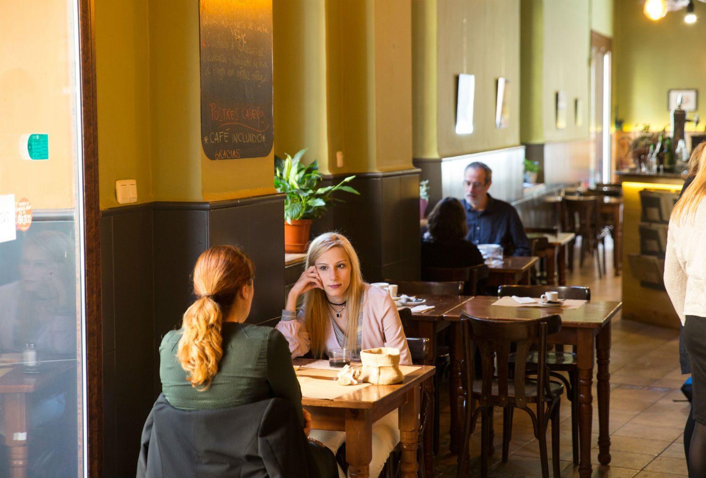 Imagen del salón del restaurante de Aguaribay
