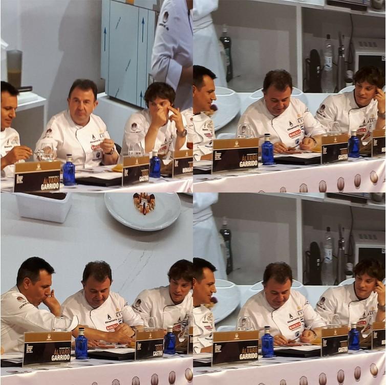 Martín Berasategui, Jordi Cruz y Oriol Castro en Alimentaria 2018