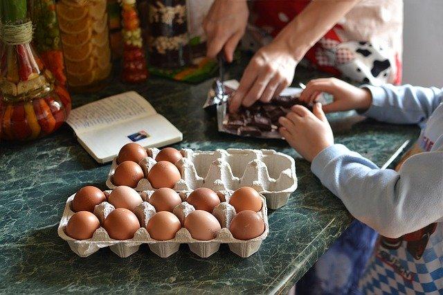 cocina y niños